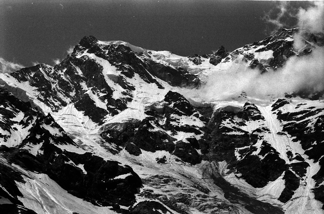 vintage photographs in black and white film of monte rosa east w